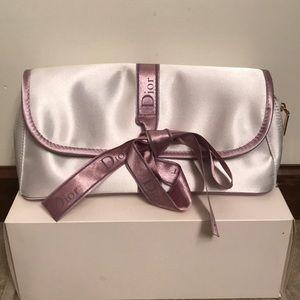 White Dior Clutch Satin